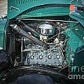 1937 Ford Pickup Truck Classic Car Engine Photograph In Color 33 by M K Miller
