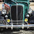 1937 Ford Pickup Truck Classic Car Front End Photograph In Color by M K Miller