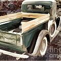 1937 Ford Pickup Truck Spare Tire Classic Car Painting In Color  by M K Miller
