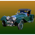 1937 Jaguar S S Onehundred  by Jack Pumphrey