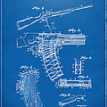 1937 Police Remington Model 8 Magazine Patent Artwork - Blueprin by Nikki Marie Smith