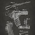 1937 Police Remington Model 8 Magazine Patent Artwork - Gray by Nikki Marie Smith