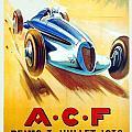 1938 - Automobile Club De France Poster - Reims - George Ham - Color by John Madison