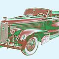 1938 Cadillac Lasalle Antique Pop Art by Keith Webber Jr