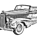 1938 Cadillac Lasalle Illustration by Keith Webber Jr
