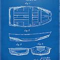 1938 Rowboat Patent Artwork - Blueprint by Nikki Marie Smith