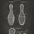 1939 Bowling Pin Patent Artwork - Gray by Nikki Marie Smith