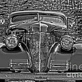 1939 Chevy Immenent Front Bw Art by Lesa Fine