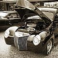 1939 Ford Sedan Antique Classic Car In Sepia 3412.01 by M K Miller