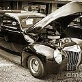 1939 Ford Sedan Classic Antique Car In Sepia 3411.01 by M K Miller