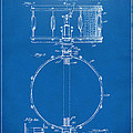 1939 Snare Drum Patent Blueprint by Nikki Marie Smith