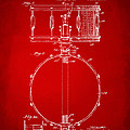 1939 Snare Drum Patent Red by Nikki Marie Smith
