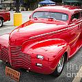 1940 Chevrolet Master Deluxe Classic Car Automobile Color Red  3 by M K Miller
