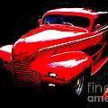 1940 Chevrolet Master Fine Art Classic Car Automobile Color Red  by M K Miller