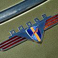 1940 Dodge Nameplate by Mike Flynn