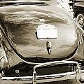 1940 Ford Classic Car Back Side And Trunk Photograph In Sepia 31 by M K Miller