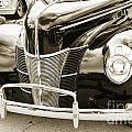 1940 Ford Classic Car Front Front End And Grill Photograph In Se by M K Miller