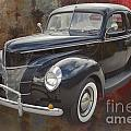 1940 Ford Deluxe Photograph Of Classic Car Painting In Color 319 by M K Miller