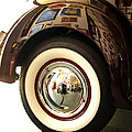 Classic Maroon 1940 Ford Rear Fender And Wheel   by Jerry Cowart