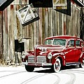 1940 Hudson And Barn by Rick Mock