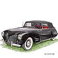Lincoln Zephyr Cabriolet by Jack Pumphrey