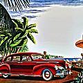 1940 Lincoln Zephyr Continental 4 Door Sedan Ad by Florian Rodarte