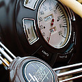 1938 Lincoln-zephyr Continental Cabriolet Steering Wheel Emblem -1817c by Jill Reger
