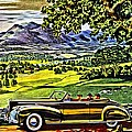 1940 Lincoln Zephyr Convertible Ad by Florian Rodarte