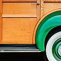 1940 Packard 120 Woody Station Wagon Wheel Emblem by Jill Reger