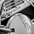 1940 Plymouth Deluxe Woody Wagon Steering Wheel Emblem -0116bw by Jill Reger