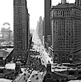 1940s Downtown Skyline Michigan Avenue by Vintage Images