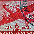 1941 - 1944 Six Cents Air Mail Stamp -  U. S. Army Cancelled by Bill Owen