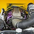 1941 Ford Pickup Engine Motor  Classic Automobile In Color 3082. by M K  Miller