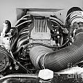 1941 Ford Pickup Engine Motor  Classic Automobile In Sepia 3082.01 by M K  Miller