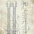 1941 Gibson Electric Guitar Patent Drawing by Jon Neidert