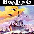 1942 - Motor Boating Magazine Cover - October - Color by John Madison