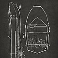 1943 Chris Craft Boat Patent Artwork - Gray by Nikki Marie Smith
