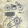 1943 Indian Motorcycle Patent Drawing by Jon Neidert