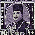 1944 King Farouk Egypt Stamp  by Bill Owen