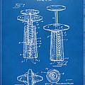 1944 Wine Corkscrew Patent Artwork - Blueprint by Nikki Marie Smith