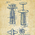1944 Wine Corkscrew Patent Artwork - Vintage by Nikki Marie Smith