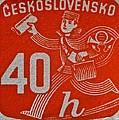 1945 Czechoslovakia Newspaper Stamp by Bill Owen