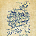1946 Jet Aircraft Propulsion Patent Artwork - Vintage by Nikki Marie Smith