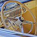 1947 Cadillac 62 Steering Wheel by Jill Reger