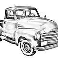1947 Chevrolet Thriftmaster Pickup Illustration by Keith Webber Jr