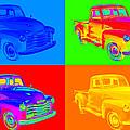 1947 Chevrolet Thriftmaster Pickup Pop Art by Keith Webber Jr