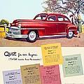 1947 - Desoto Automobile Advertisement - Color by John Madison