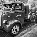 1947 Ford Coca Cola C.o.e. Delivery Truck Bw by Rich Franco