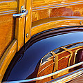 1947 Mercury Woody Reflecting Into 1947 Ford Woody by Jill Reger