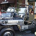 1947 Us Army Jeep Side View by John Telfer